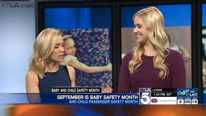 KTLA: Baby Safety Month Millennial Mom